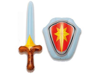 Sada nafukovací štít a meč Intex 44600 - Červená