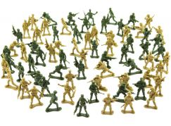 Sada vojáci 2 barvy plast CZ design 1489