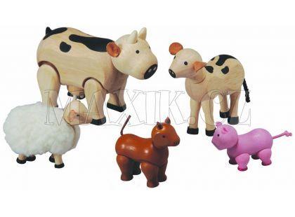 Sada zvířátek k farmě, 6 dílů Plan Toys