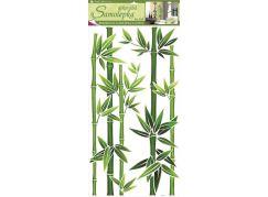 Samolepky na zeď bambus zelený, 60x32 cm