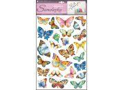 Samolepky na zeď barevní motýli 48 x 29 cm (142)