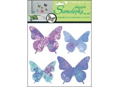 Samolepky na zeď motýli skuteční 30,5 x 30,5 cm