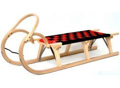 Saně dřevěné Praděd 125cm lakované - II. JAKOST