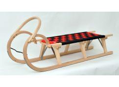 Saně dřevěné Praděd 125cm lakované