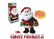 Santa Claus chodící - tančící 30 cm