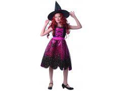 Šaty na karneval 9192 čarodějnice 110 - 120 cm