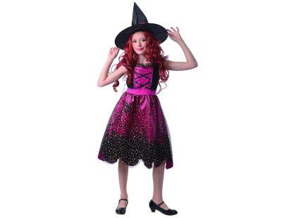 Šaty na karneval 9193 čarodějnice 120 - 130 cm