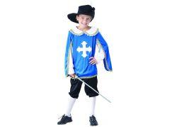 Šaty na karneval mušketýr 120 - 130 cm