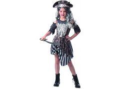 Šaty na karneval zombie pirátka 110 - 120 cm