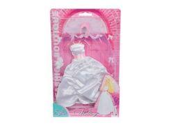 Šaty pro panenku Steffi svatební Svatební světle růžová korunka
