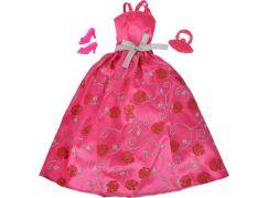 Šaty pro panenku Steffi večerní růžové