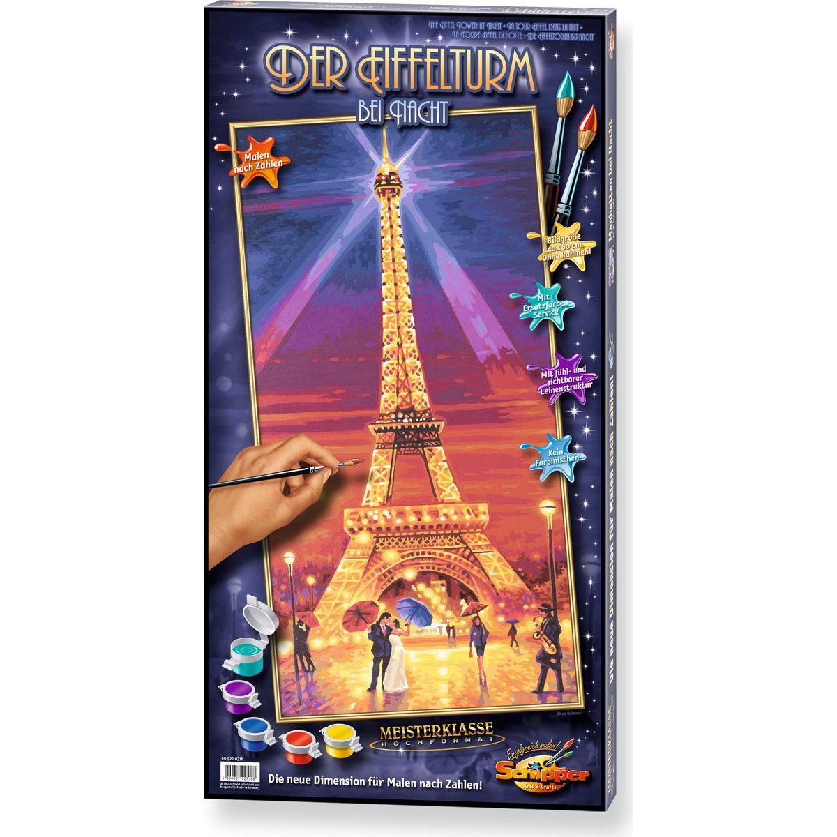 Schipper Eiffelova věž v noci Hochformat 40x80cm