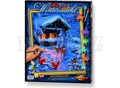 Schipper Romantická zimní noc Premium 40x50cm