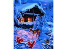 Schipper Romantická zimní noc Premium 40x50cm 2
