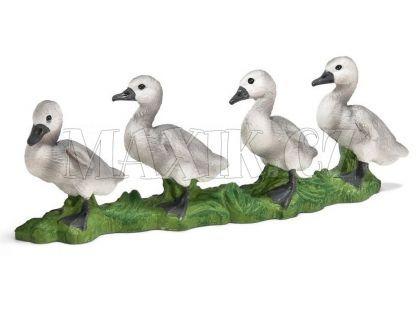 Schleich 13657 4 labutí mláďata za sebou