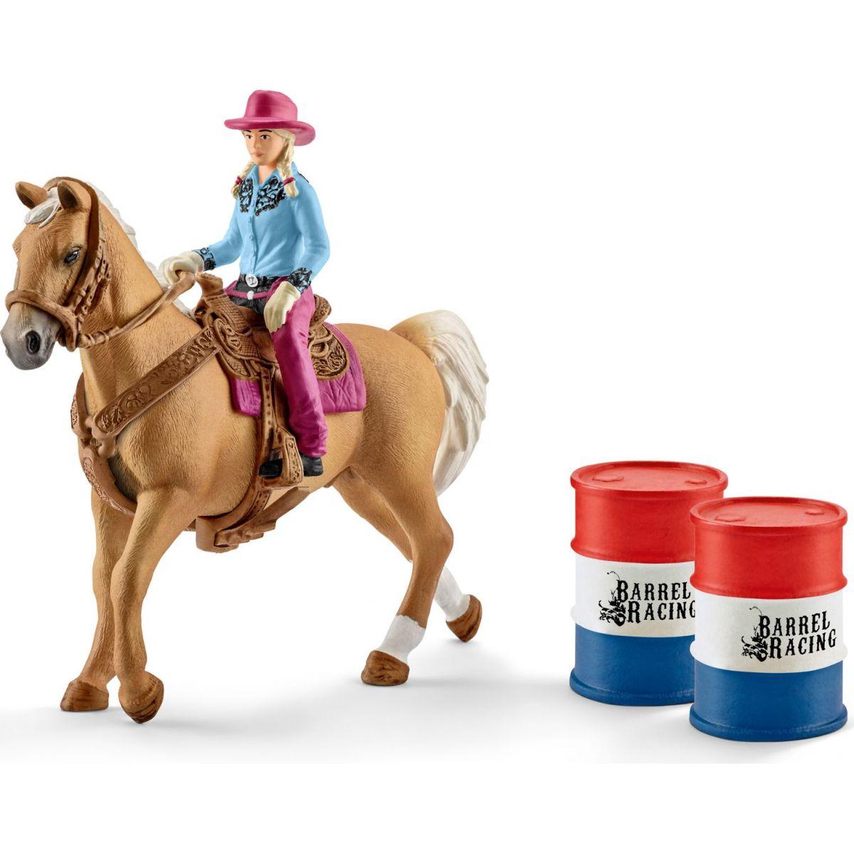 Schleich 41417 Osedlaný kůň s kovbojkou
