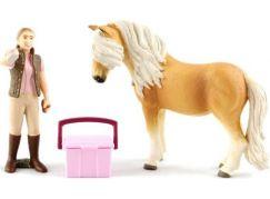 Schleich 41431 Klisna koně Islandského s ošetřovatelkou