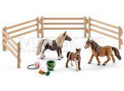 Schleich 41435 Rodina Shetlandských poníků na pastvě