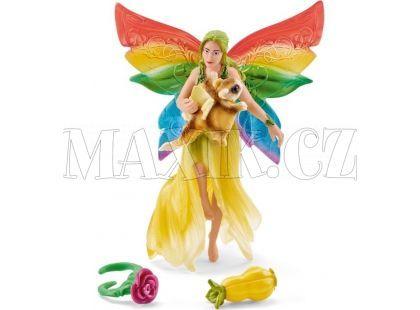 Schleich 41437 Duhová elfí víla Meena s létající veverkou