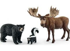 Schleich 41456 Set lesní zvířátka severní Ameriky