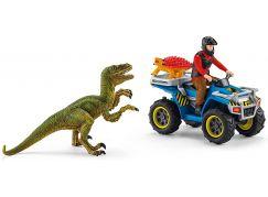 Schleich 41466 Útěk před Velociraptorem na čtyřkolce