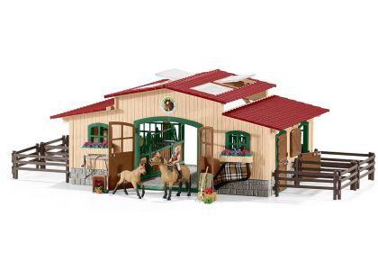 Schleich 42195 Stáj s koňmi a příslušenstvím