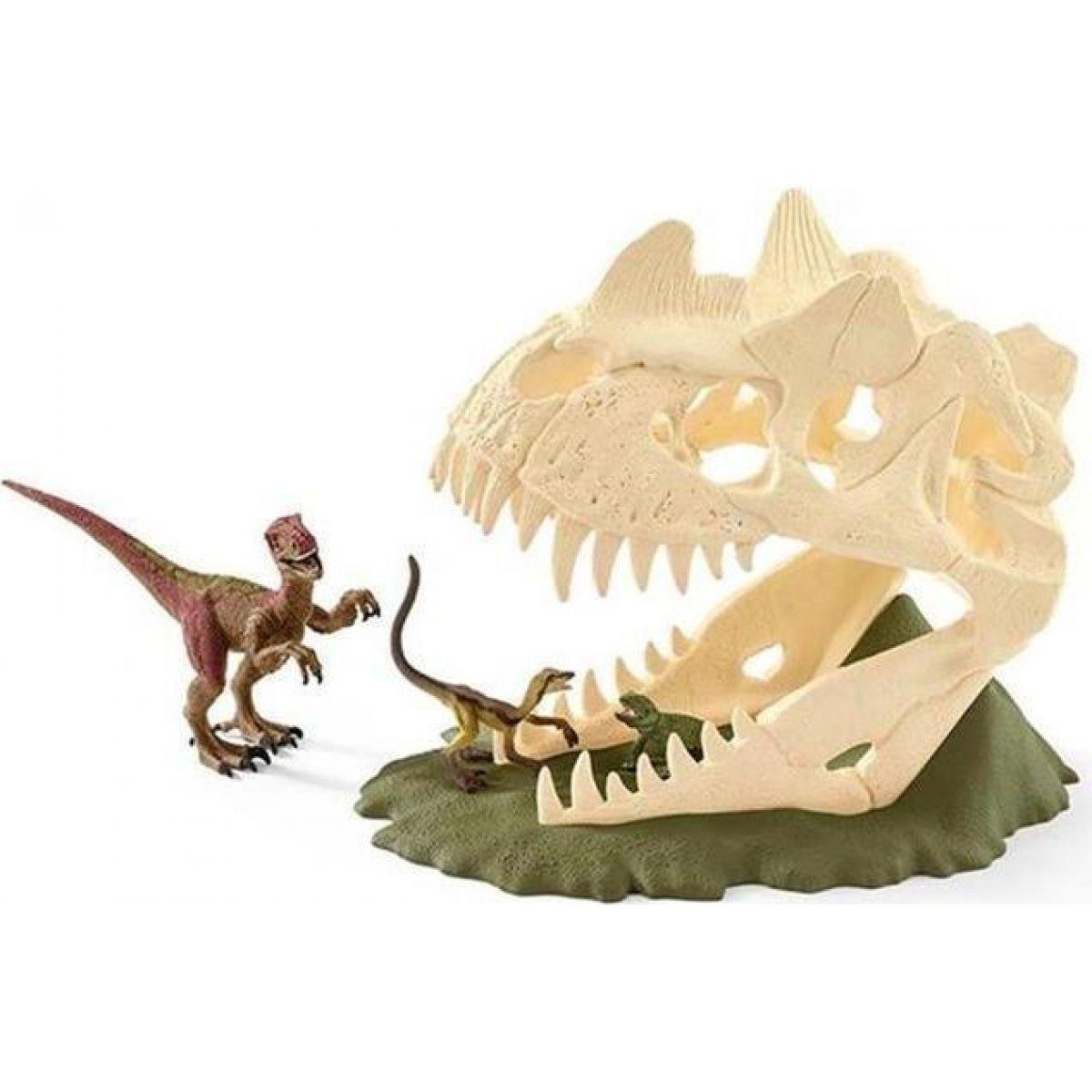 Schleich 42348 Velká lebka s Velociraptorem a ještěrem