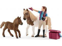 Schleich 42362 Ošetřovatelka s shetlandskými poníky
