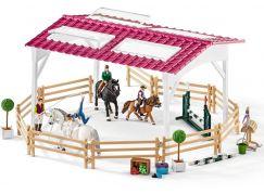 Schleich 42389 Jezdecká škola s jezdci a koňmi