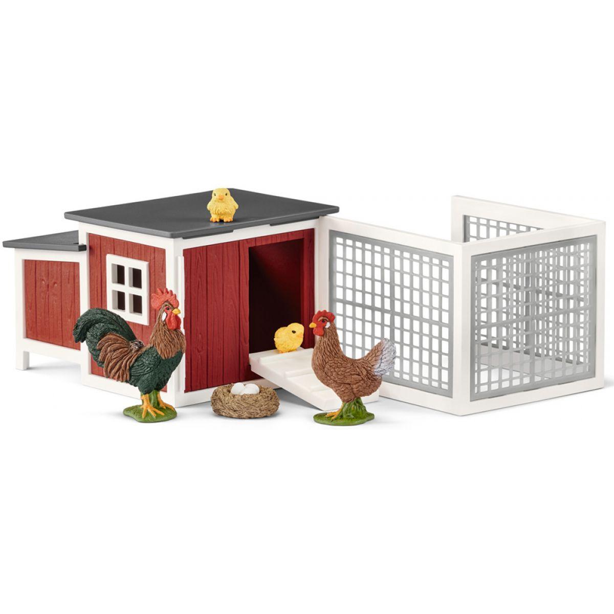 Schleich 42421 Kurník pro slepice a kuřátka