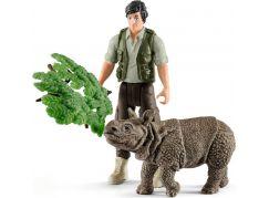 Schleich 42428 set indický nosorožec v džungli