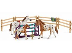 Schleich 42433 Set appalosští koně a tréninkové příslušenstí