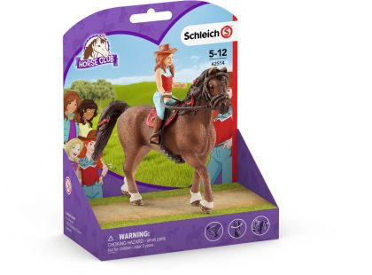 Schleich 42514 Zrzka Hannah a kůň Cayenne