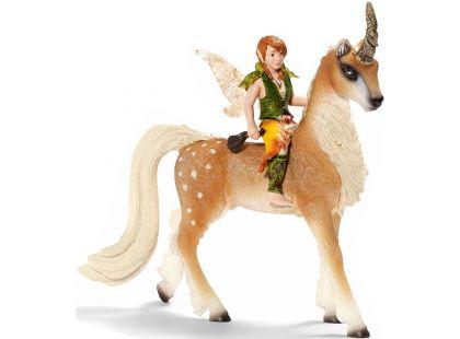 Schleich 70461 Elfí chlapec na lesním jednorožci