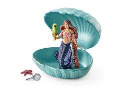 Schleich 70563 Mořská panna s mořským koníkem v mušli