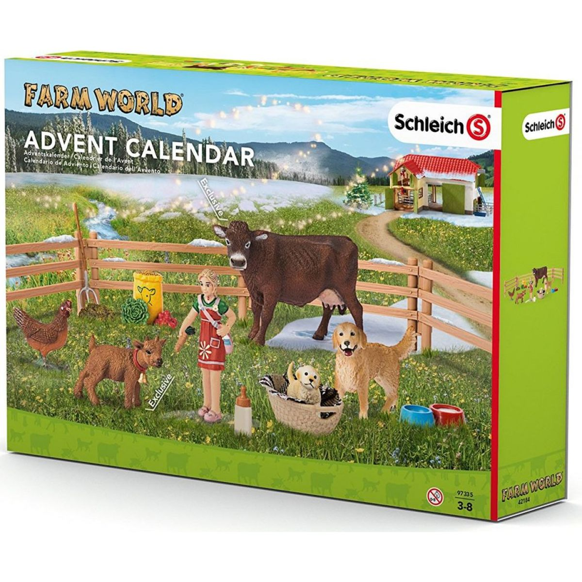 Schleich 97335 Adventní kalendář 2016 Domácí zvířata