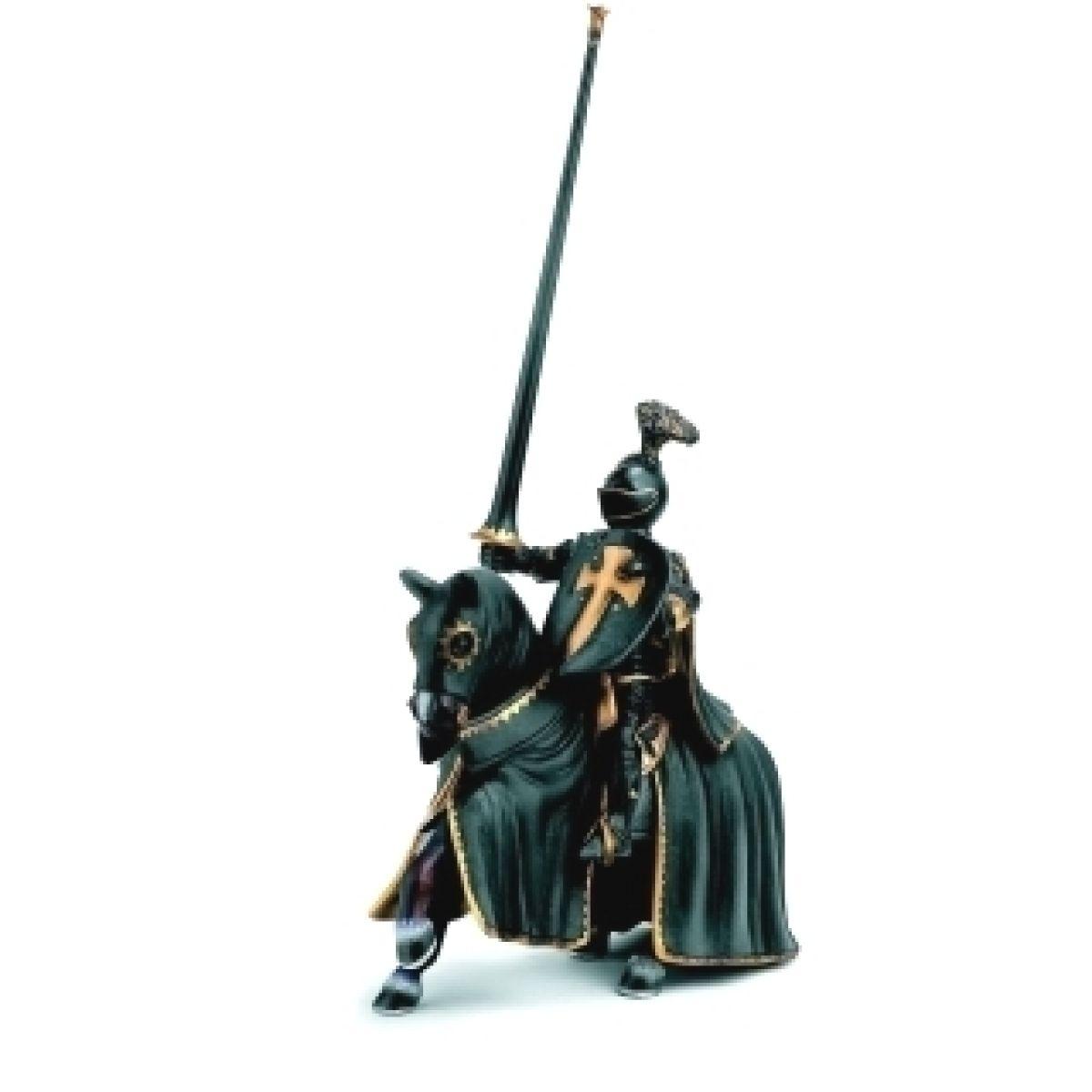 Schleich Rytíř na koni - černý