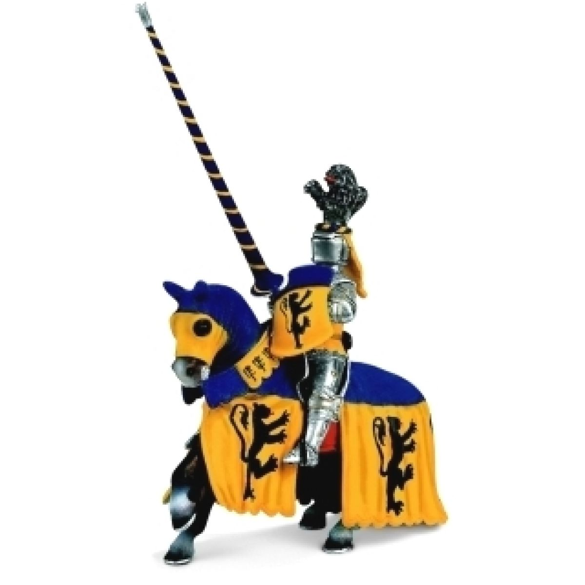 Schleich Rytíř na koni - modrožlutý