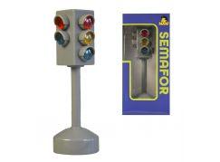 Semafor na baterie se světlem a zvukem