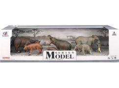 Series Model Svět zvířat buvoli, hroši a sloni