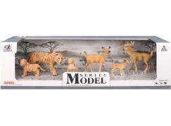 Series Model Svět zvířat rodina tygrů a srnečků
