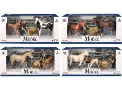 Series Model Svět zvířat sada 1, kůň a hříbě s figurkou
