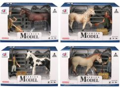 Series Model Svět zvířat sada 1, kůň s figurkou