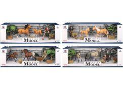 Series Model Svět zvířat sada 1 s figurkou, koněm a hříbětem