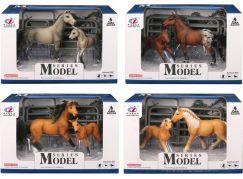 Series Model Svět zvířat sada 2, kůň a hříbě