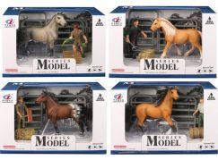 Series Model Svět zvířat sada 2, kůň s figurkou