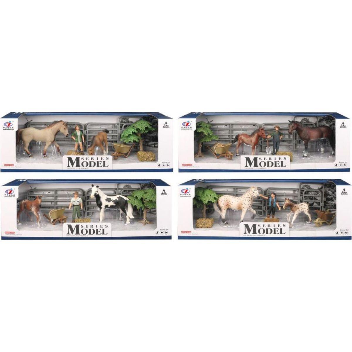 Series Model Svět zvířat sada 2 s figurkou, koněm a hříbětem