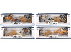 Series Model Svět zvířat sada s figurkou, trakařem a koňmi