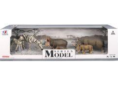 Series Model Svět zvířat zebry, hroši, nosorožci