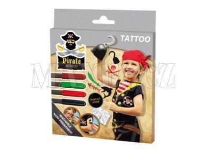 Ses Tetovací fixy Pirát s předlohou